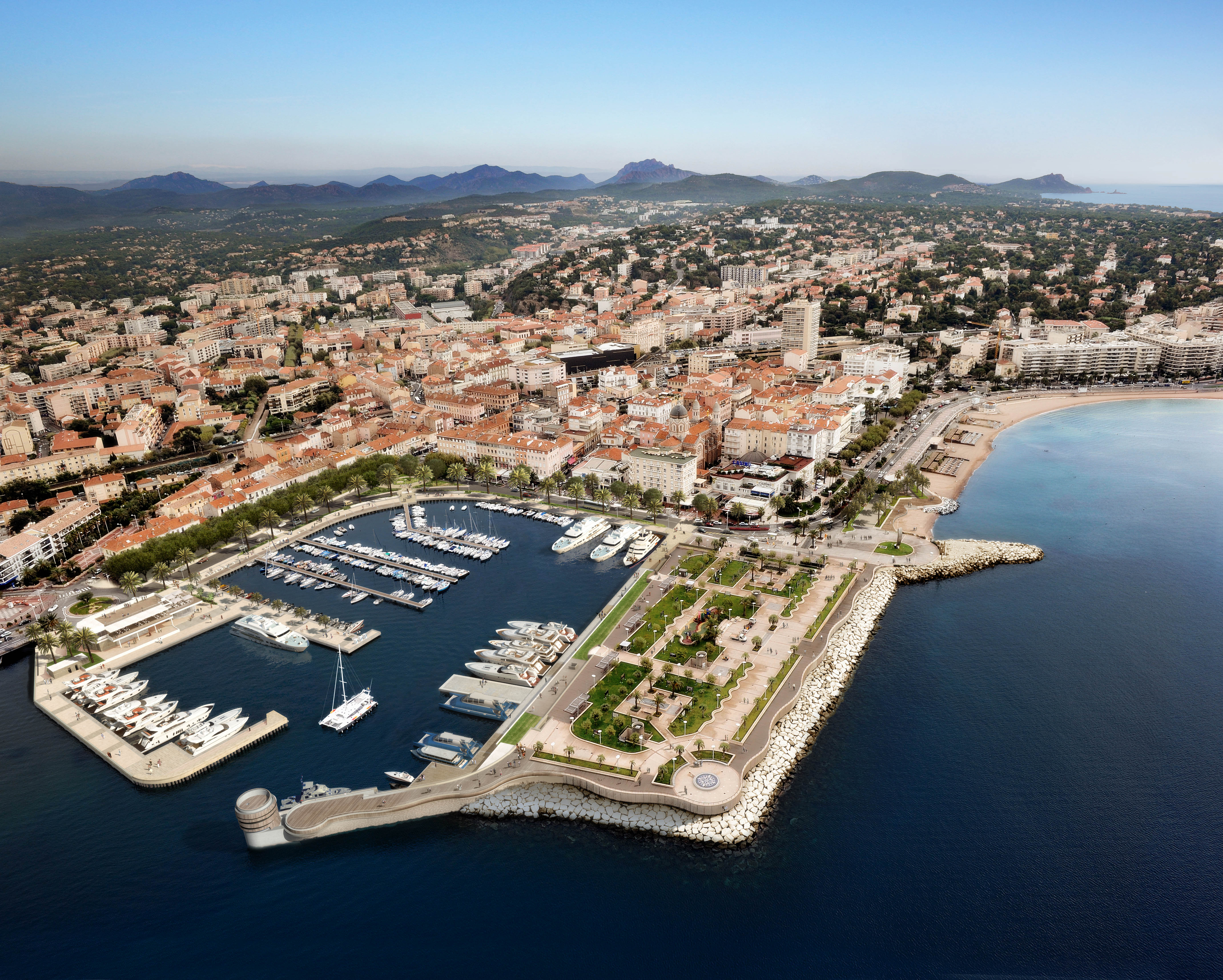 new marina extension in saint raphael mediterranean berths marinas. Black Bedroom Furniture Sets. Home Design Ideas