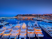 Yachts berthed in Monaco